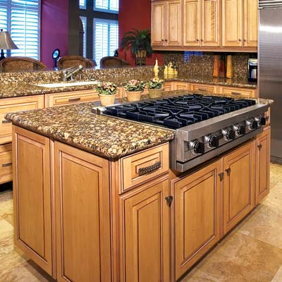Kitchen design must have from domicile sf for Cooktop kitchen island designs