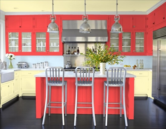 Kitchen Cabinets Get Colorful