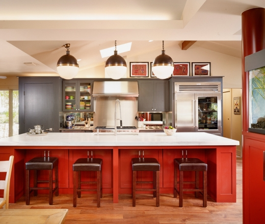 Red Kitchens With White Cabinets: Kitchen Cabinets Are Getting A Color Boost