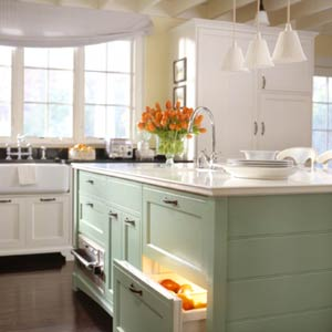 green-and-white-kitchen
